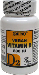 DEVA Vegan Vitamin D2 Tablets