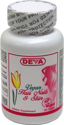 DEVA Vegan Hair, Nails and Skin Formula