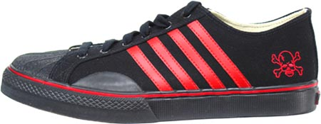 Duane Peters Sneaker by Draven � Black w/ Red Stripes
