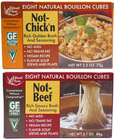 "Natural Vegan ""Chicken"" and ""Beef"" Bouillon Cubes by Edward & Sons"
