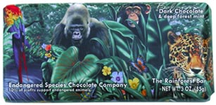 Endangered Species Chocolate Company Chocolate Bars