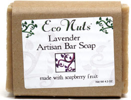 Eco Nuts Lavender Artisan Bar Soap