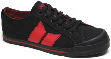 Eliot Sneaker by MacBeth Footwear � Black/Blood Red