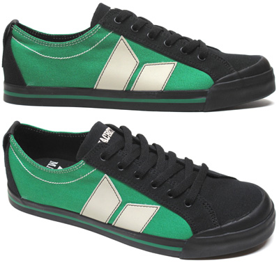 Eliot Sneaker by MacBeth Footwear � Black/Kelly Green