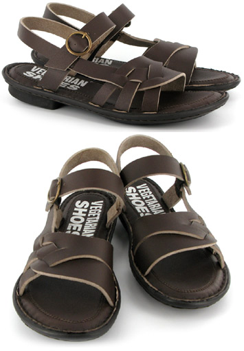 Ellie Sandal by Vegetarian Shoes – Brown