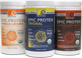 Epic Protein Organic and Raw Protein Powder by Sprout Living