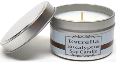 Soy Wax Candle Tins by Estrella