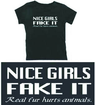 &quot;Nice Girls Fake It&quot; Women's Fitted Shirt