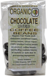 Organic Chocolate Covered Coffee Beans by Green Goddess