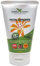 Organic SPF 30 Facial Sunscreen by Goddess Garden