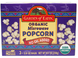 Organic No-Oil Added Microwave Popcorn by Garden of Eatin�