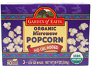 Organic No-Oil Added Microwave Popcorn by Garden of Eatin
