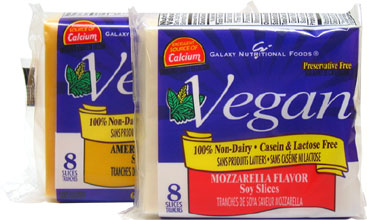 Vegan Singles Cheese Slices by Galaxy Nutritional Foods