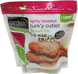 Lightly Breaded Turk'y Cutlets with Homestyle Gravy by Gardein