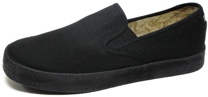 Garth Slip-On by Draven – Black Canvas