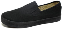 Garth Slip-On by Draven  Black Canvas
