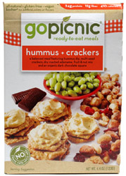 Go Picnic Hummus + Crackers Ready-To-Eat Meal