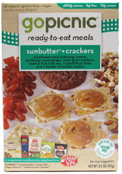 Go Picnic Sunbutter + Crackers Ready-To-Eat Meal