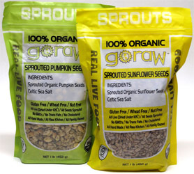 100% Organic Sprouted Sunflower and Pumpkin Seeds by Go Raw