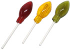 Allergen-Friendly Christmas Tree Light Lollipops by Indie Candy