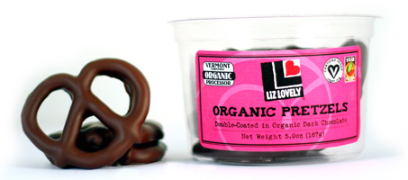 Liz Lovely Organic Chocolate Covered Pretzels