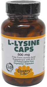 L-Lysine Vegi-Caps by Country Life