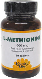 L-Methionine with B-6 Tablets by Country Life