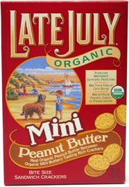 Late July Organic Mini Peanut Butter Sandwich Crackers