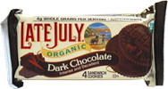 Organic Dark Chocolate Sandwich Cookies by Late July