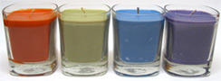 Lumia Organic Soy Wax Square Jar Candles