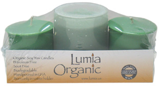 Organic Soy Wax Votive Set by Lumia Organic