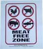 Meat Free Zone Sticker