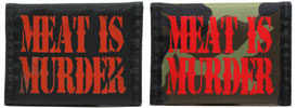Meat is Murder Nylon Wallet by Motive Company