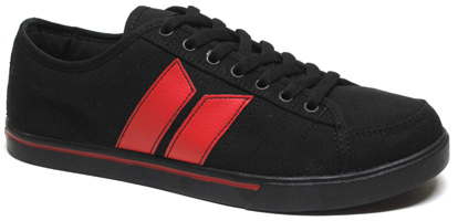 Manchester Sneaker by MacBeth � Black / Blood Red
