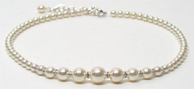Faux Pearl Necklace by McFarland Designs