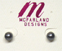 Faux Pearl Stud Earrings by McFarland Designs
