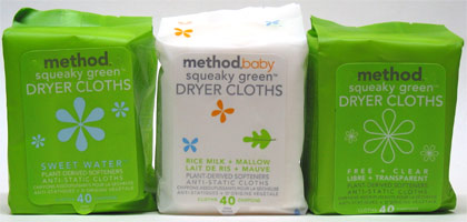 Squeaky Green Dryer Cloths by Method