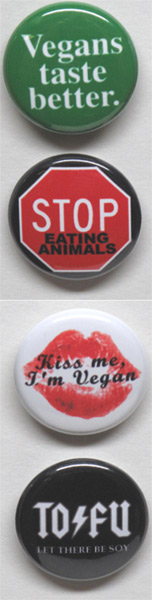 Vegan Mini Message Buttons