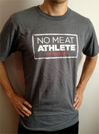 No Meat Athlete Stamp Logo Sustainable Material T-Shirt - Unisex Grey