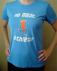 No Meat Athlete Carrot Logo Technical Athletic Shirt - Women's Light Blue