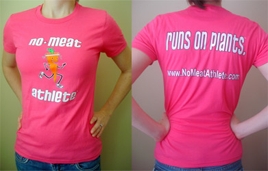 No Meat Athlete Sustainable Material T-Shirt - Women's Pink
