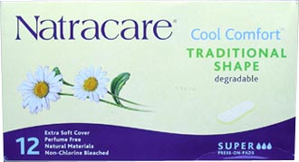 Natracare Press-On Pads