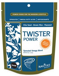 Organic Sprouted Raw Superseed Blend Smoothie Powder by Navitas Naturals