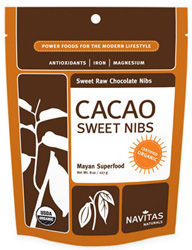 Organic Sweetened Raw Cacao Nibs by Navitas Naturals