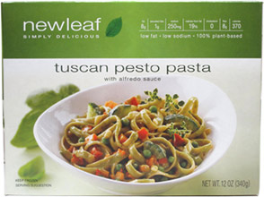 Vegan Tuscan Pesto Pasta with Alfredo Sauce by NewLeaf