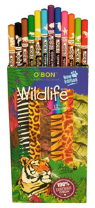 Wildlife Recycled Newspaper Color Pencil Set by OBon