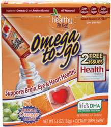 Omega to Go Omega 3 DHA Drink Mix
