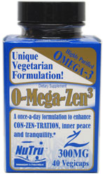 O-Mega-Zen3 Vegan DHA Supplement by NuTru