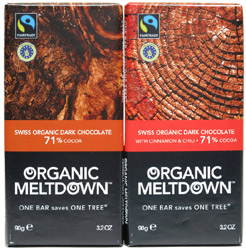 Organic Meltdown Chocolate Bars
