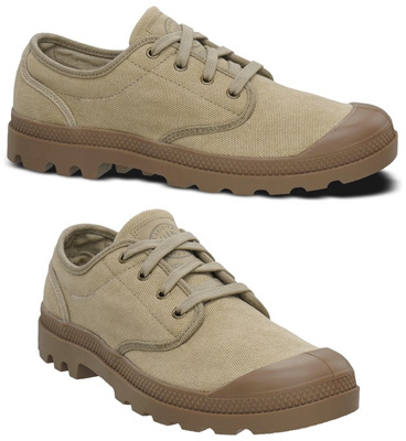 Pampa Oxford by Palladium &#8211; Men's Stone/Dark Khaki